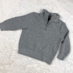 Gray Zip Neck Sweater